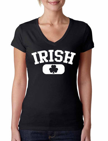 Irish Shamrock women Sporty V Shirt  saint patricks day - ALLNTRENDSHOP - 1