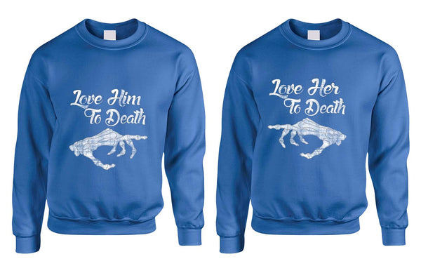 Love her Love him to death Couple sweaters Valentines day - ALLNTRENDSHOP - 3