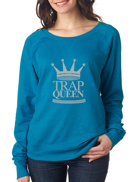 Trap Queen long sleeve Pullover women - ALLNTRENDSHOP - 2