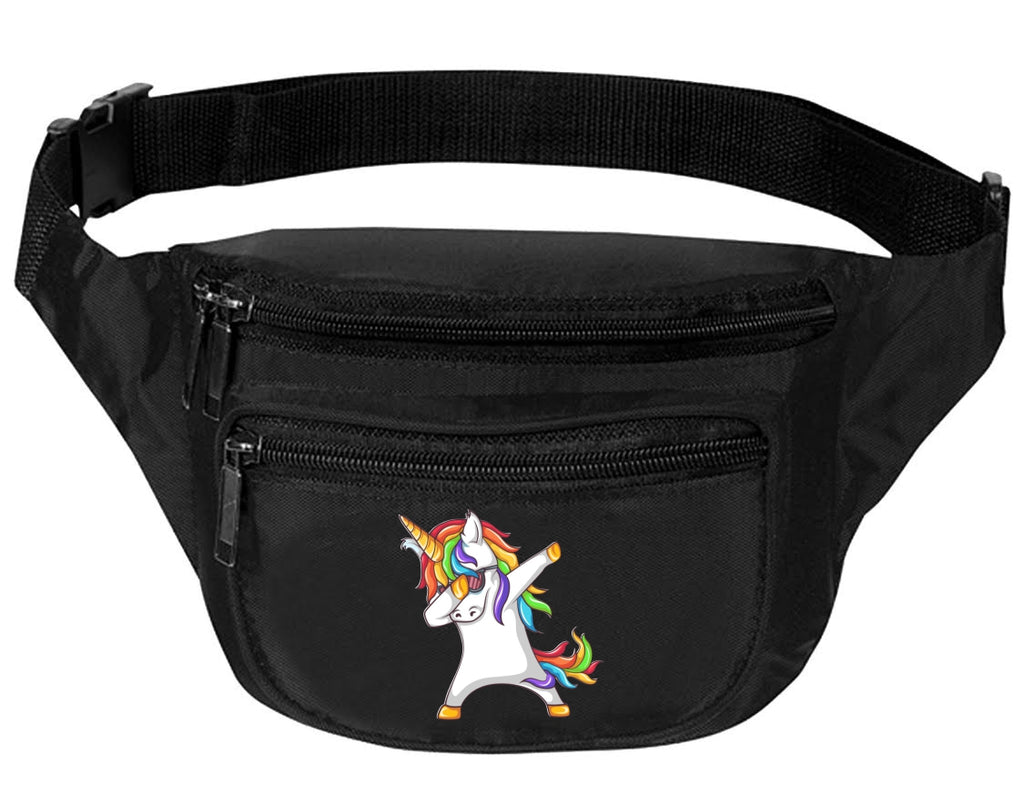 Adult Waist Pack Dabbing Unicorn Trendy Travel Pack Cute Funny Packs