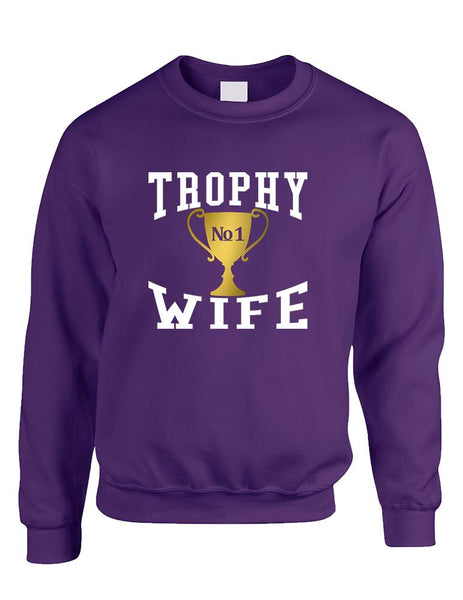 Adult Sweatshirt Trophy Wife Cool Xmas Love Holiday Gift - ALLNTRENDSHOP - 1