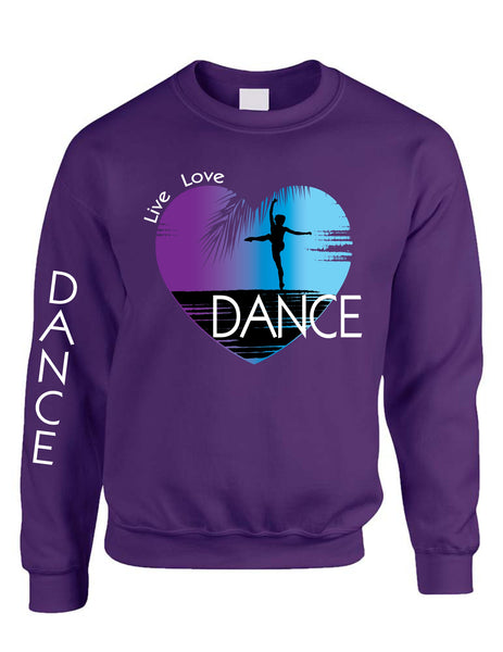 Adult Sweatshirt Dance Art Purple Print Love Cute Top Nice Gift - ALLNTRENDSHOP - 4
