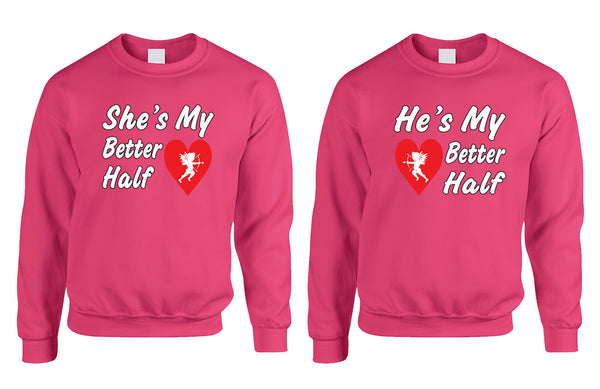 she and hes my better half Couple sweatshirt - ALLNTRENDSHOP - 3
