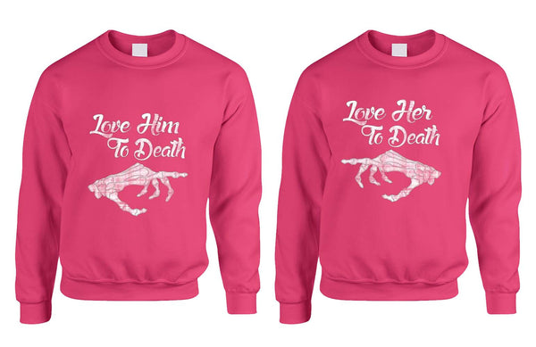 Love her Love him to death Couple sweaters Valentines day - ALLNTRENDSHOP - 4