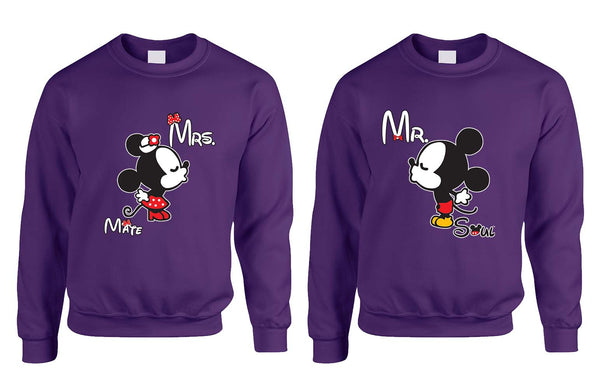 Mr soul Mrs mate kiss couples sweaters Valentines day - ALLNTRENDSHOP - 3