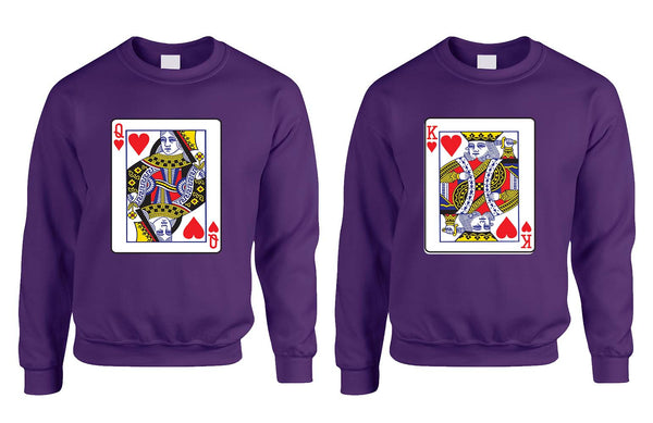 King and Queen matching couples sweatshirt Valentines day - ALLNTRENDSHOP - 3