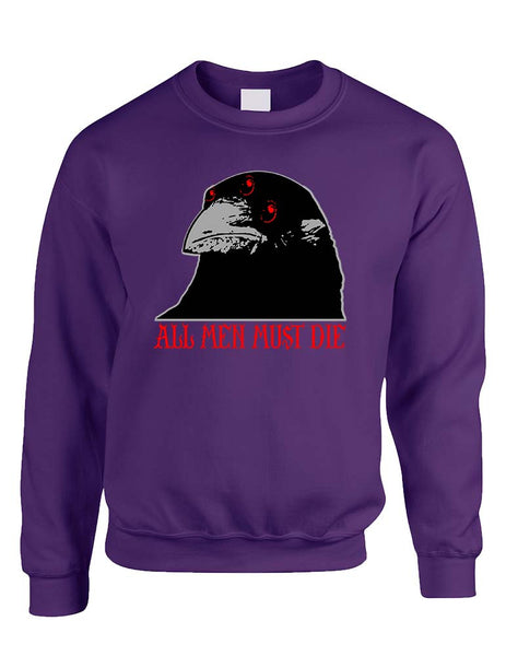 Three-eyed Crow All men must die women sweatshirt - ALLNTRENDSHOP - 3