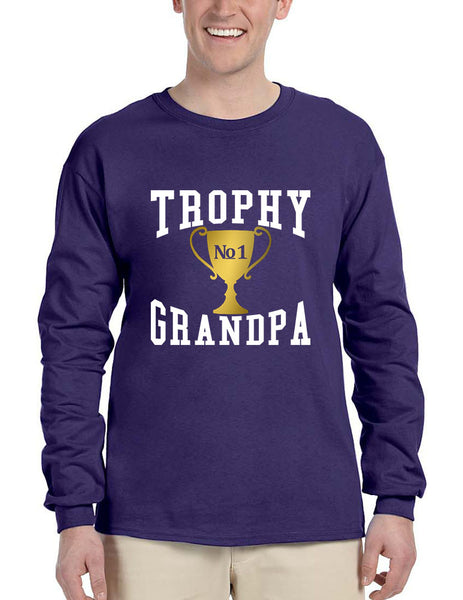 Men's Long Sleeve Trophy Grandpa Cool Xmas Love Family Gift Top - ALLNTRENDSHOP - 2