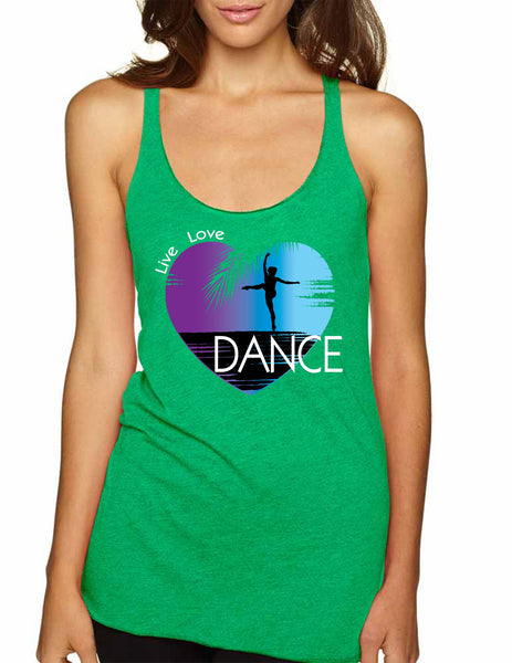 Women's Tank Top Dance Art Purple Print Love Cute Top Nice Gift - ALLNTRENDSHOP - 3