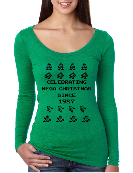Women's Shirt Celebrating Mega Christmas Ugly Sweater Holiday - ALLNTRENDSHOP - 1