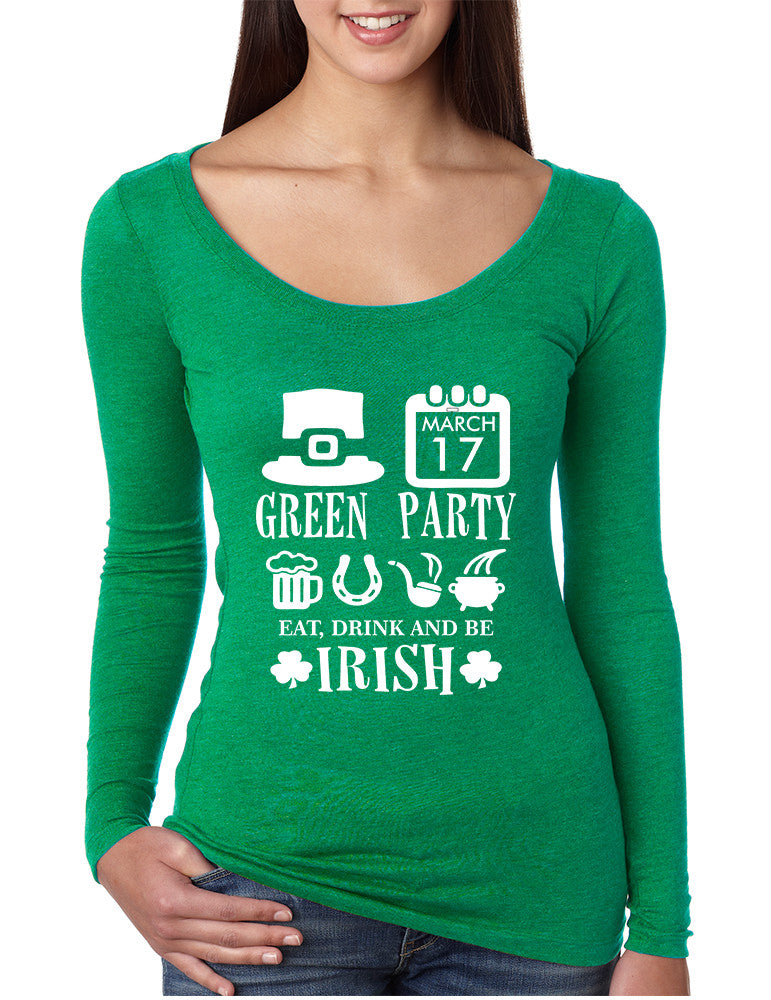 Women's Shirt Green Party St Patrick's Day Top Drunk Shirt