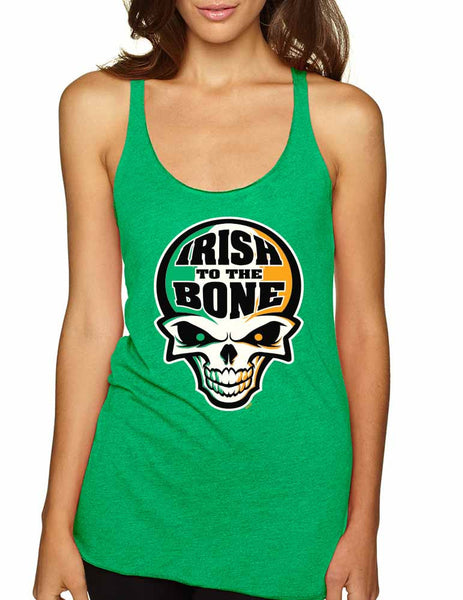 Irish To The Bone Skull women tanktop St Patrik - ALLNTRENDSHOP - 1