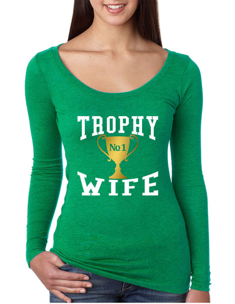 Women's Shirt Trophy Wife Cool Xmas Love Family Holiday Gift - ALLNTRENDSHOP - 6