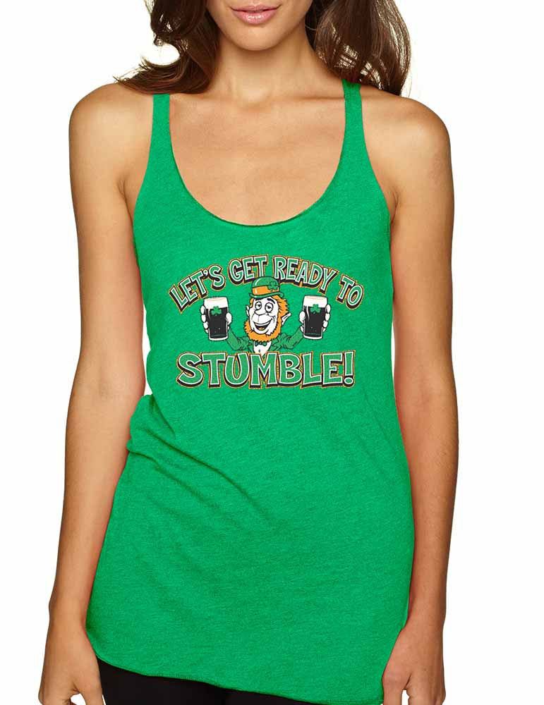 let`s get ready to stumble St patrick women tanktop - ALLNTRENDSHOP - 1
