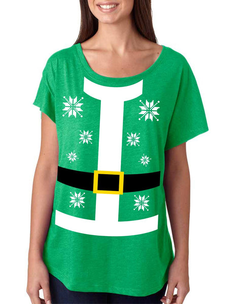 Santa suit Women's Tri-Blend Dolman shirt - ALLNTRENDSHOP - 3