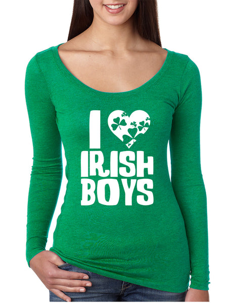 Women's Shirt I Love Irish Boys St Patrick's Day Party Shirt