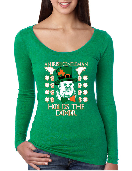 Women's Shirt Irish Hodor Hold The Door St Patrick's Day Shirt