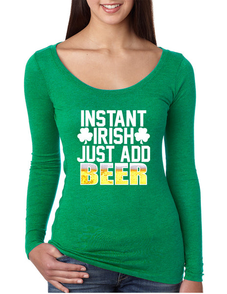 Women's Shirt Instant Irish Add Beer St Patrick's Day Shirt - ALLNTRENDSHOP - 1