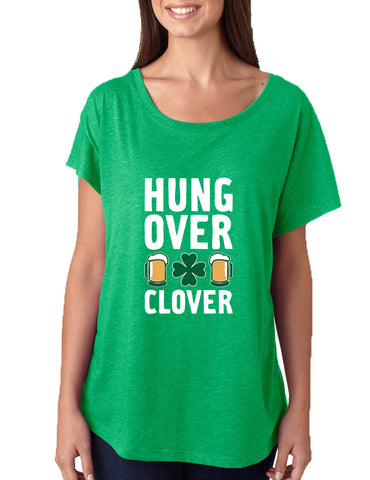 Women's Dolman Hungover Clover St Patrick's Day Party Tee