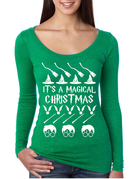 Women's Shirt It's A Magical Christmas Ugly Sweater Cool Gift - ALLNTRENDSHOP - 3