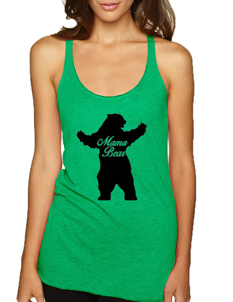 Women's Tank Top Mama Bear Family Top Mother Holiday Gift - ALLNTRENDSHOP - 2