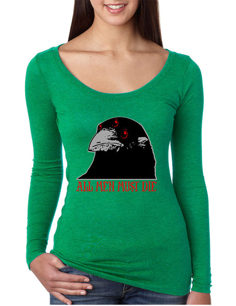 Three-eyed Crow All men must die women long sleeve shirt - ALLNTRENDSHOP - 2