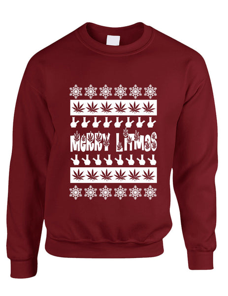 Merry Litmas bong woman sweatshirt - ALLNTRENDSHOP - 2
