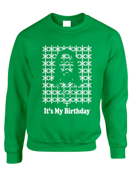 Its my birthday Jesus womens long sleeve sweatshirt - ALLNTRENDSHOP - 1