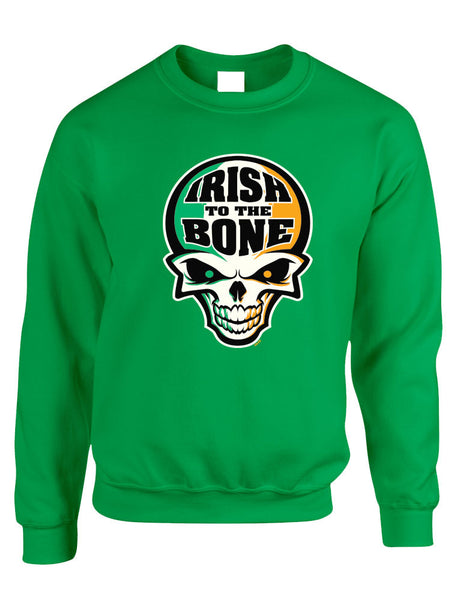 Irish To The Bone Skull women sweatshirt St Patrik - ALLNTRENDSHOP - 3