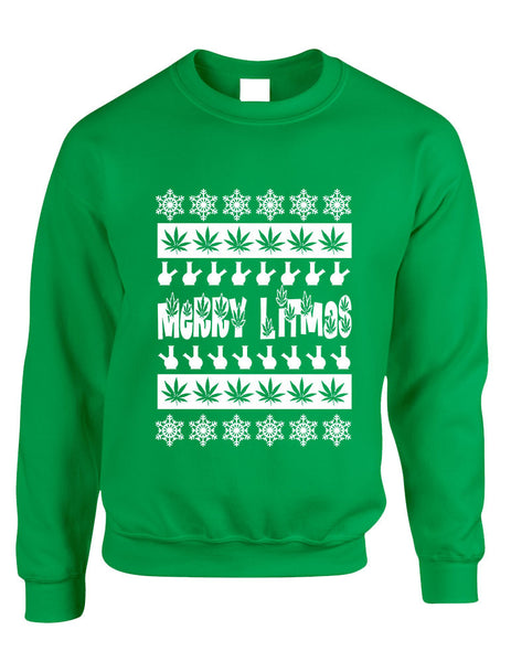 Merry Litmas bong woman sweatshirt - ALLNTRENDSHOP - 3