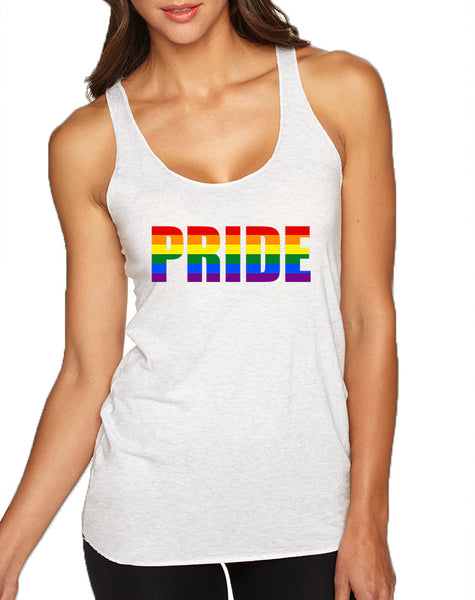 Women's Tank Top Pride Rainbow Colors Gay Support Love