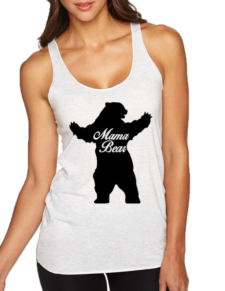 Women's Tank Top Mama Bear Family Top Mother Holiday Gift - ALLNTRENDSHOP - 1