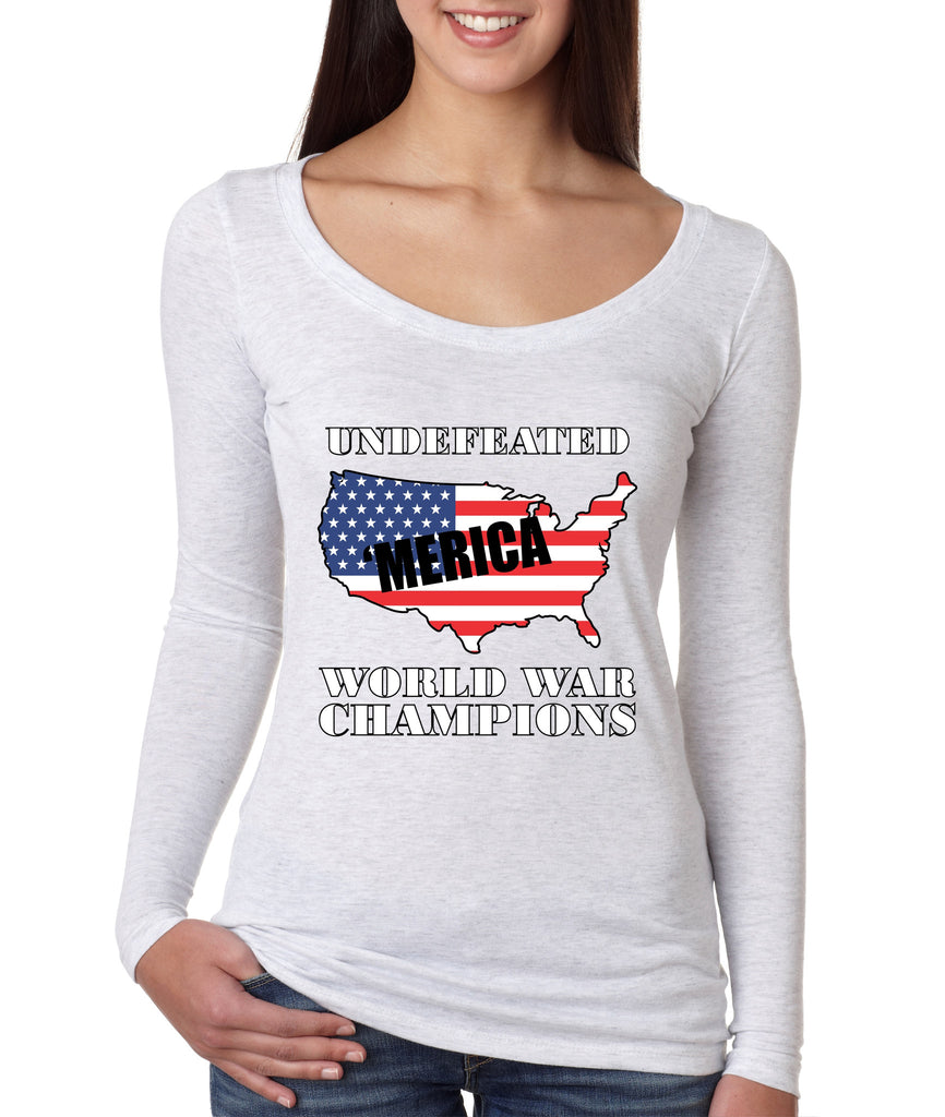 Women's Shirt Undefeated World War Champions 4th Of July