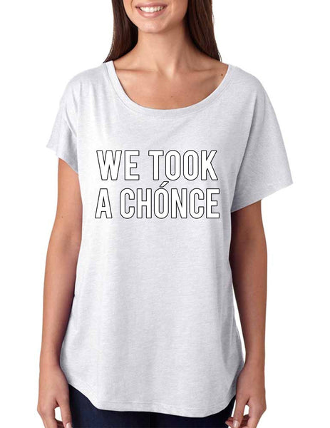 Niall Horan We took a chonce Women's Tri-Blend Dolman - ALLNTRENDSHOP - 3