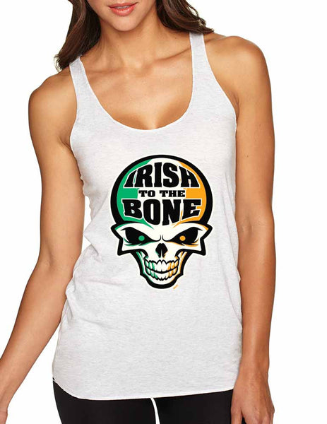 Irish To The Bone Skull women tanktop St Patrik - ALLNTRENDSHOP - 2