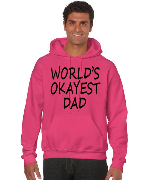 World's OKayest dad fathers day men Hoodie - ALLNTRENDSHOP - 4