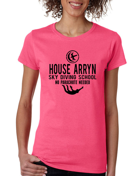 Women's T Shirt House Arryn Sky Diving School Trendy Tee