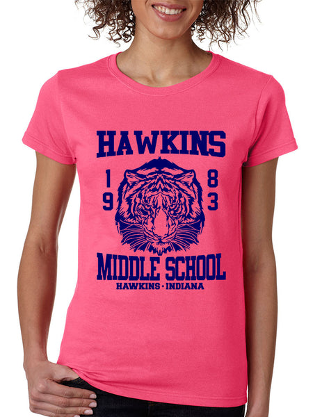 Women's T Shirt Hawkins Middle School 1983 - ALLNTRENDSHOP - 5