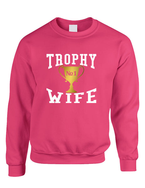 Adult Sweatshirt Trophy Wife Cool Xmas Love Holiday Gift - ALLNTRENDSHOP - 3