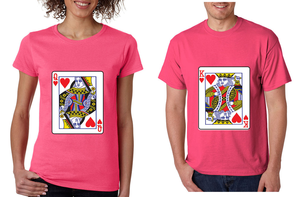 King And Queen Matching Couples Tshirts Valentines Day Allntrendshop