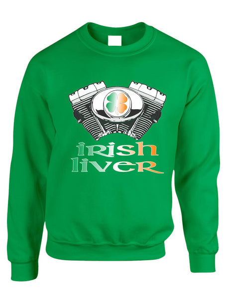 Adult Sweatshirt Irish Liver St Patrick's Day Party Fun Shamrock Top