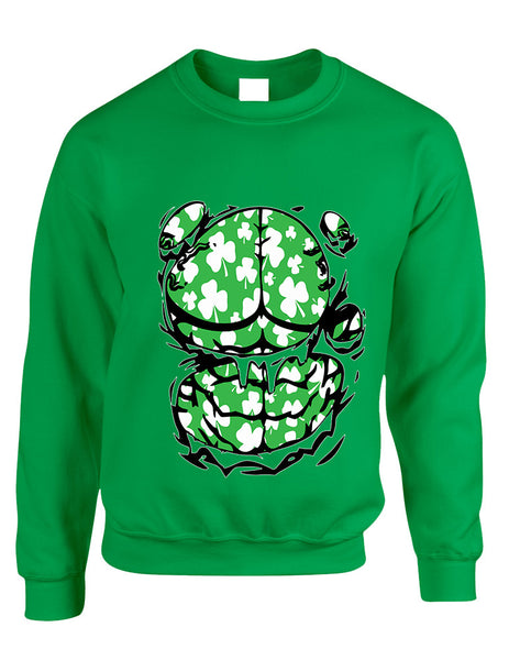 Adult Sweatshirt Irish Body Shamrock St Patrick's Day Top