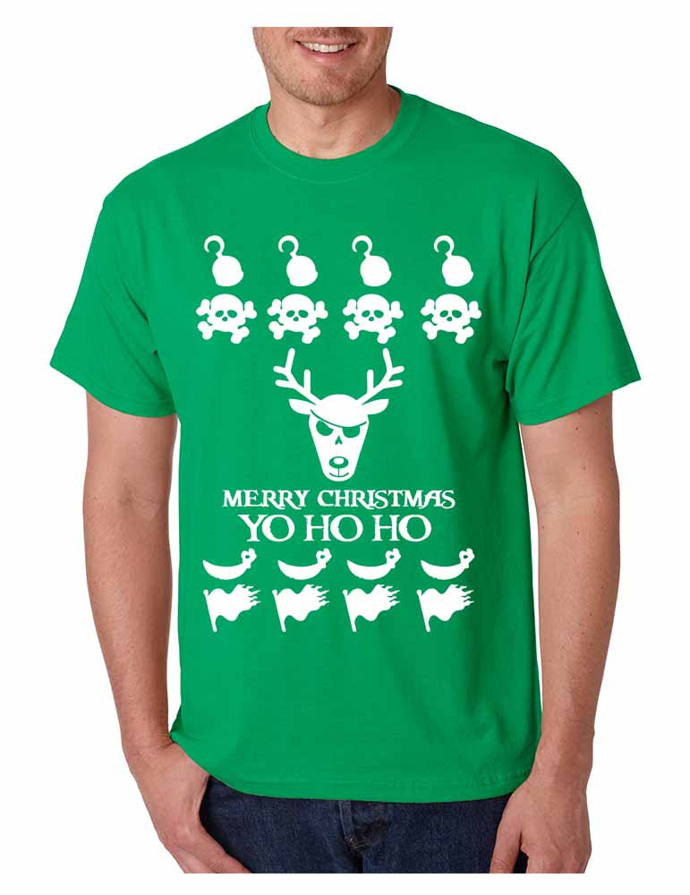 Men's T Shirt Yo Ho Ho Cool Ugly Christmas Sweater Holiday Top Gift - ALLNTRENDSHOP - 1