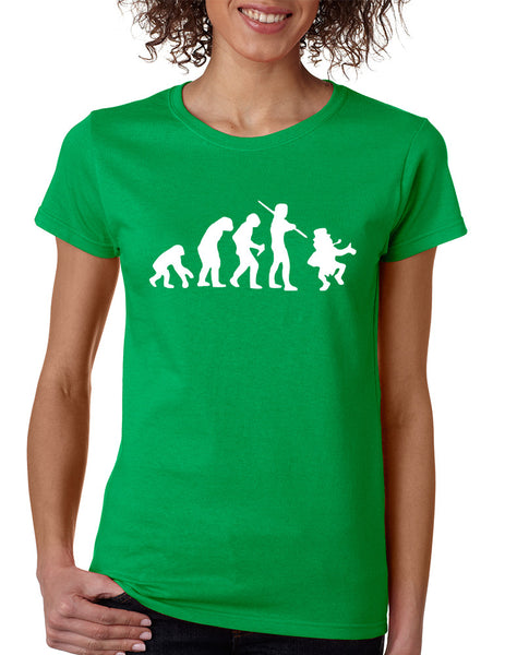 Women's T Shirt Irish Evolution Leprechaun St Patrick's Tee - ALLNTRENDSHOP - 1