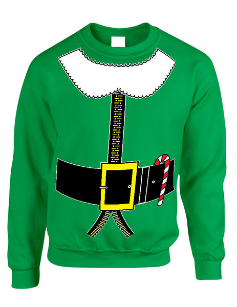 Adult Crewneck Elf Suit Santa's Elves Christmas Gift Xmas Top - ALLNTRENDSHOP - 2