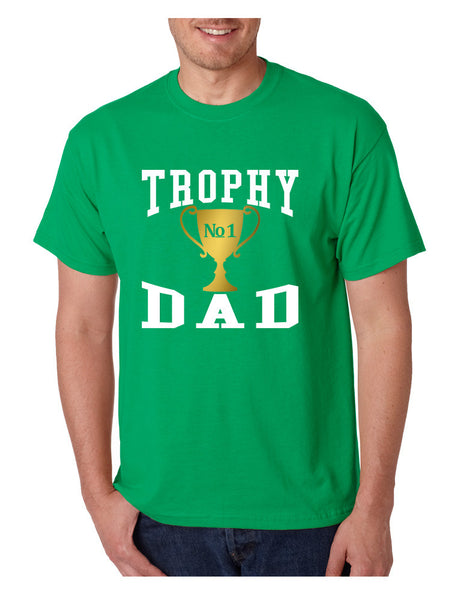 Men's T Shirt Trophy Dad Love Father Shirt Daddy Cool Gift - ALLNTRENDSHOP - 2