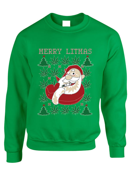 Adult Crewneck Santa Litmas Merry Christmas Ugly Sweater