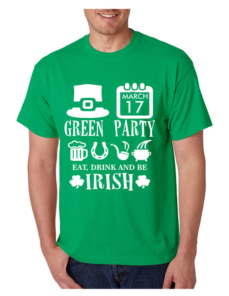 Men's T Shirt Green Party St Patrick's Day Shirt Drunk Tee