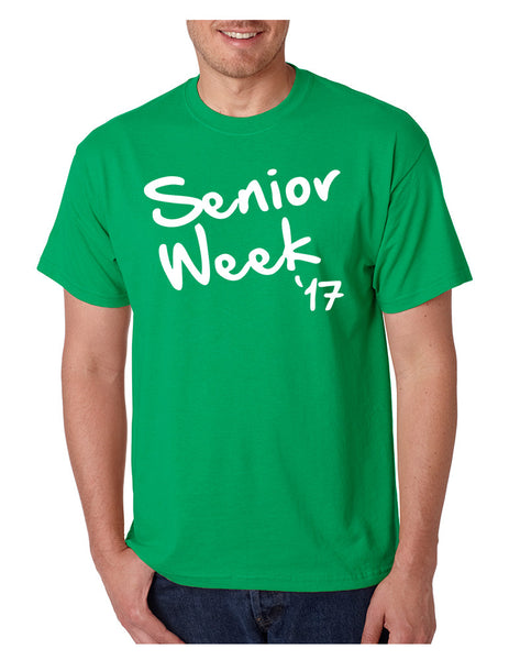Men's T Shirt Senior Week 17 White Class Of 2017 Party Tee