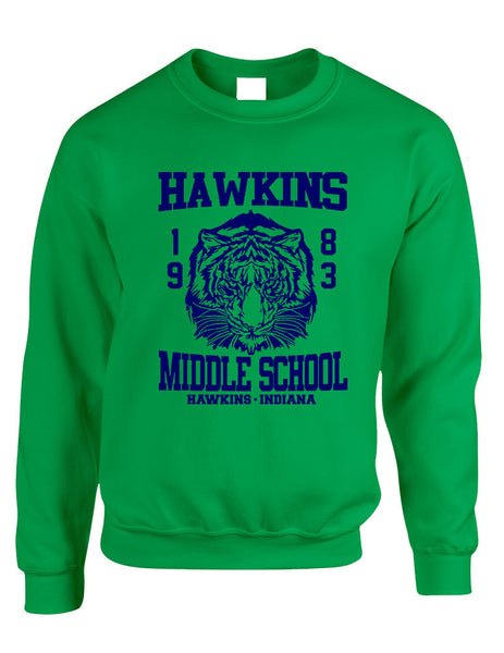 Adult Crewneck Sweatshirt Hawkins Middle School 1983 - ALLNTRENDSHOP - 5